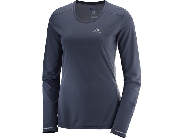 Salomon Agile Running Shirt longsleeve Women grey